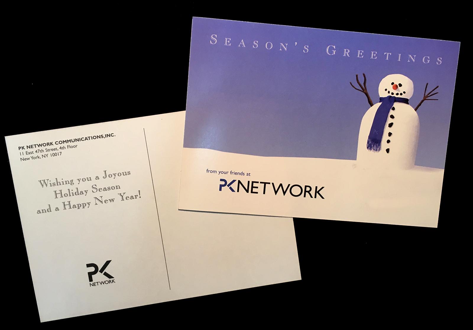 PK Network Holiday Card 2003